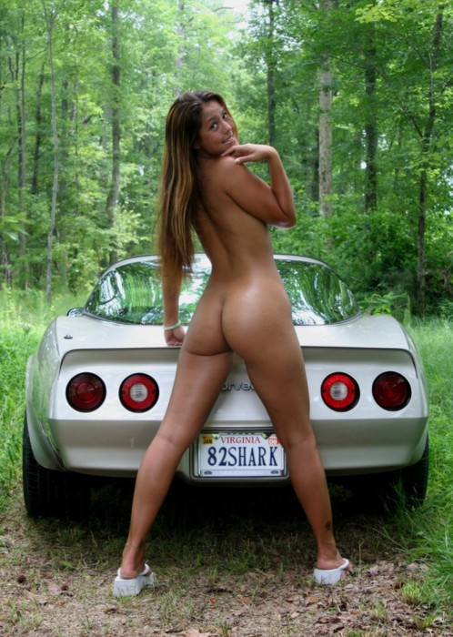 Nude photos of girls with cars