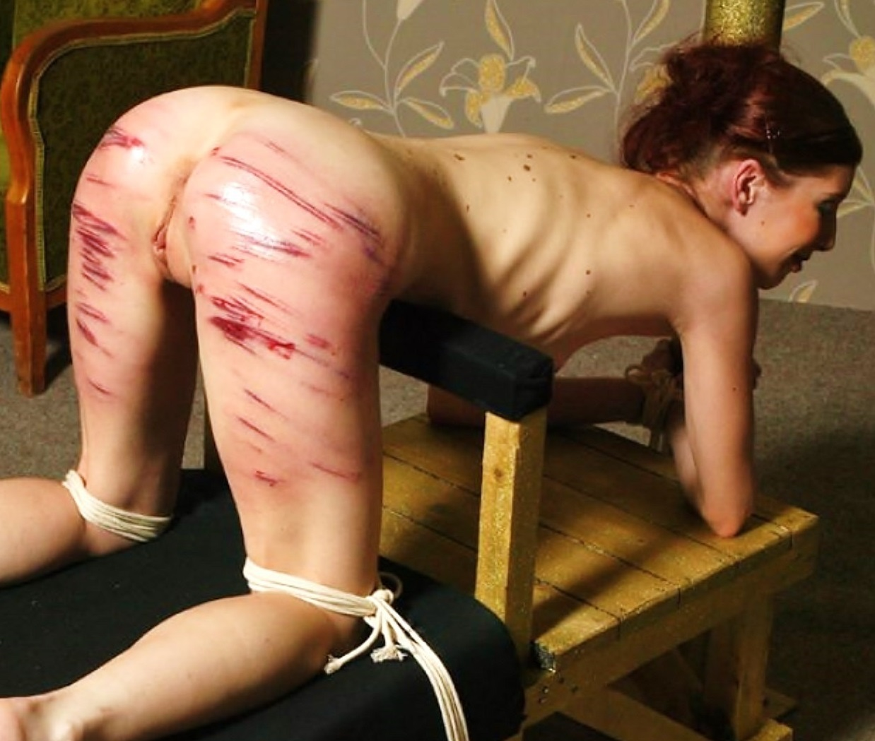 Naked girl hard spanked 13
