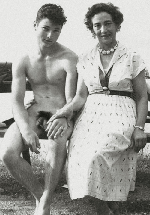 Precisely Mother and son nudist