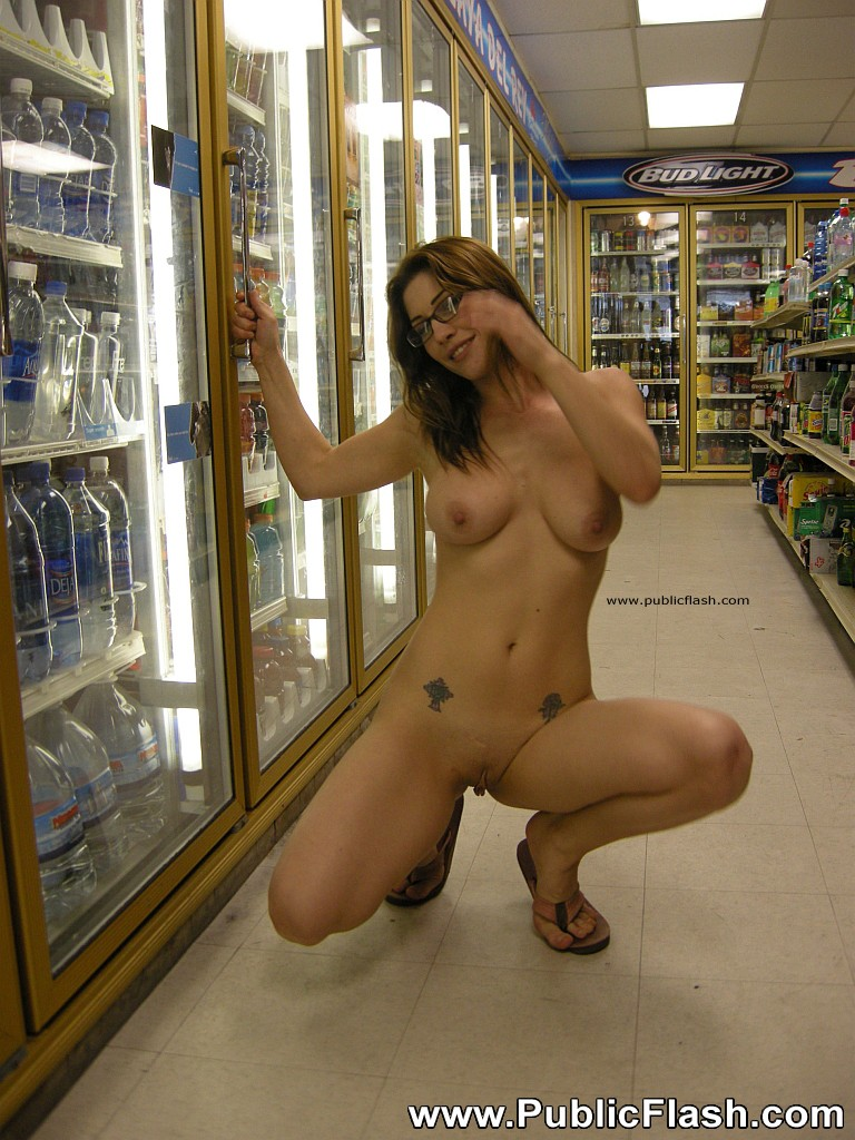 Girls naked in public shops