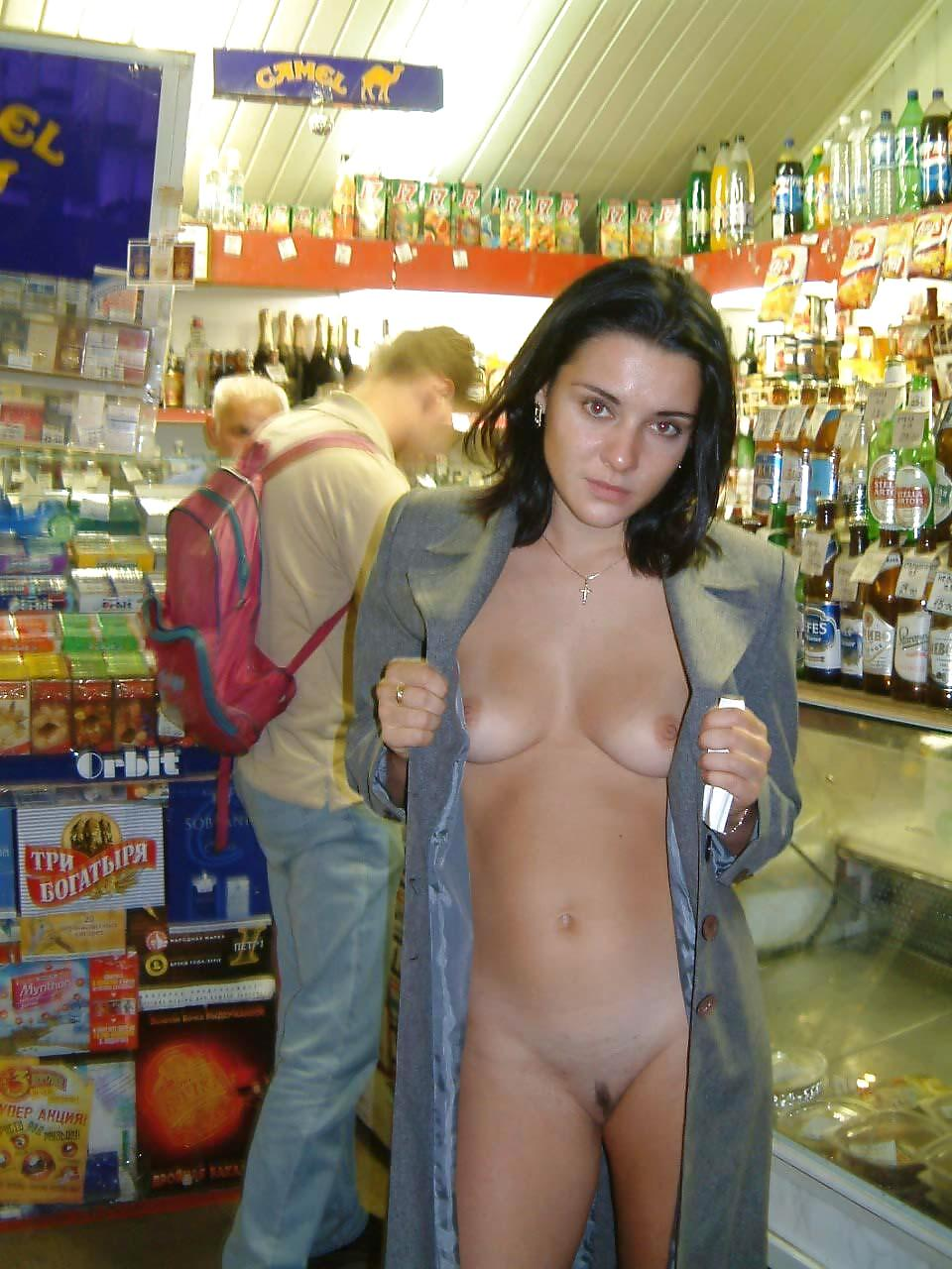 Naked photos public woman