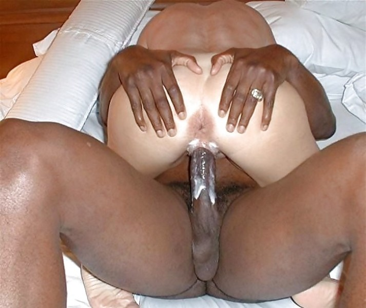 White cum on black cock