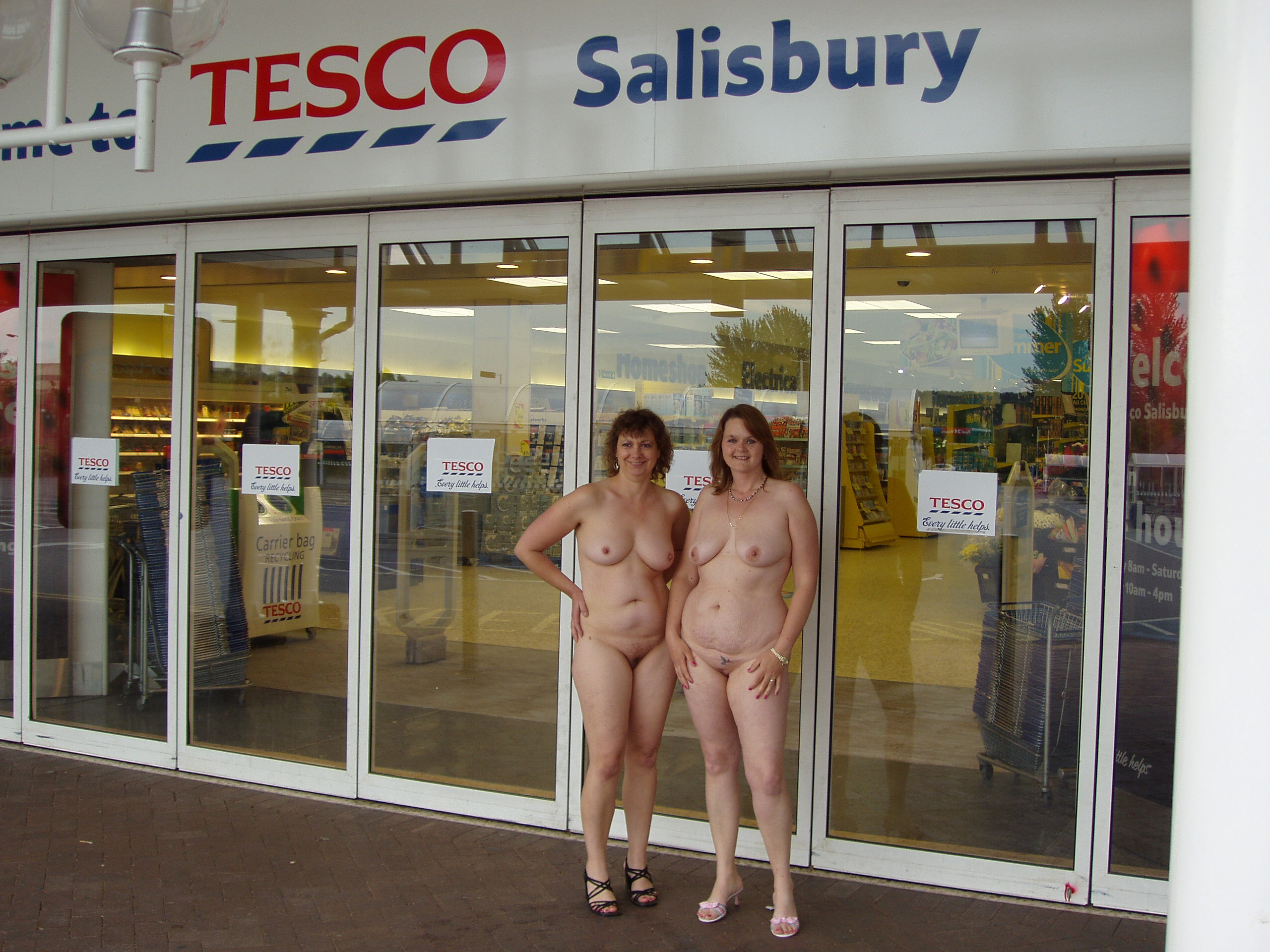 Naked and nude girls in public