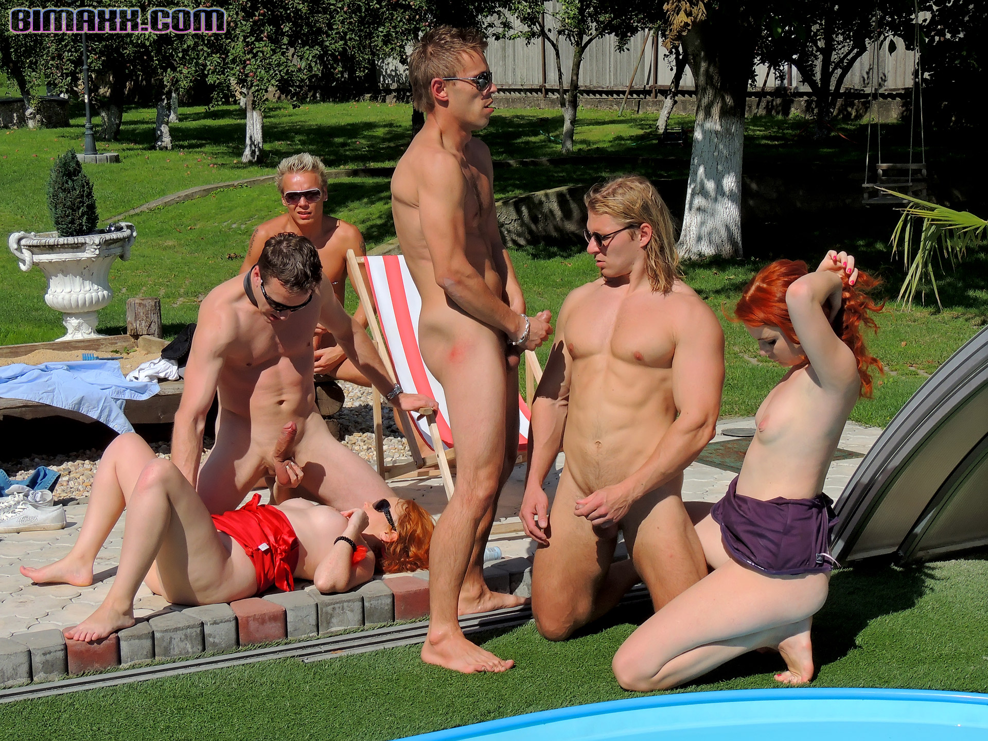 outdoor bisexual party