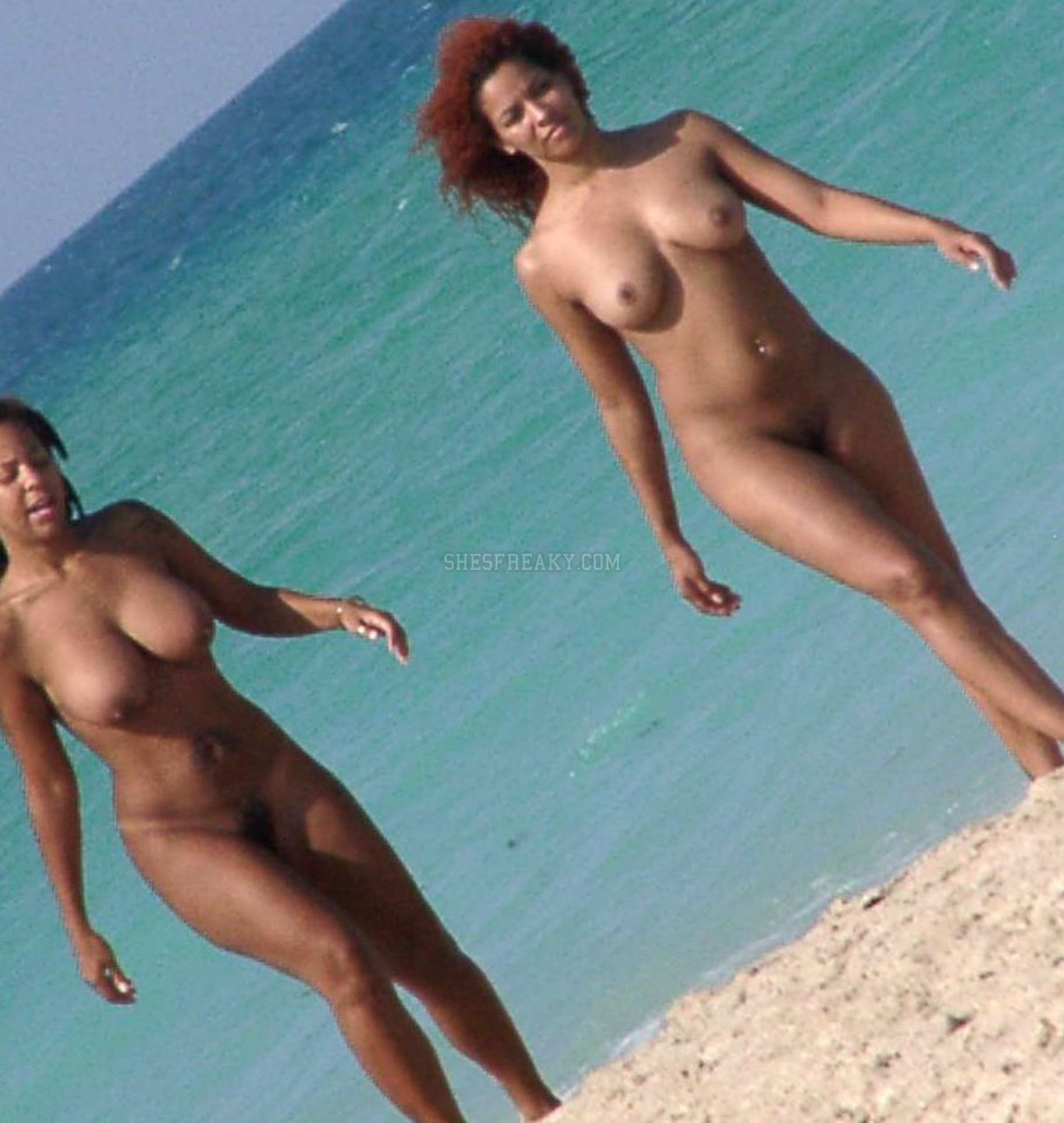 Nude Black Girl On Beach