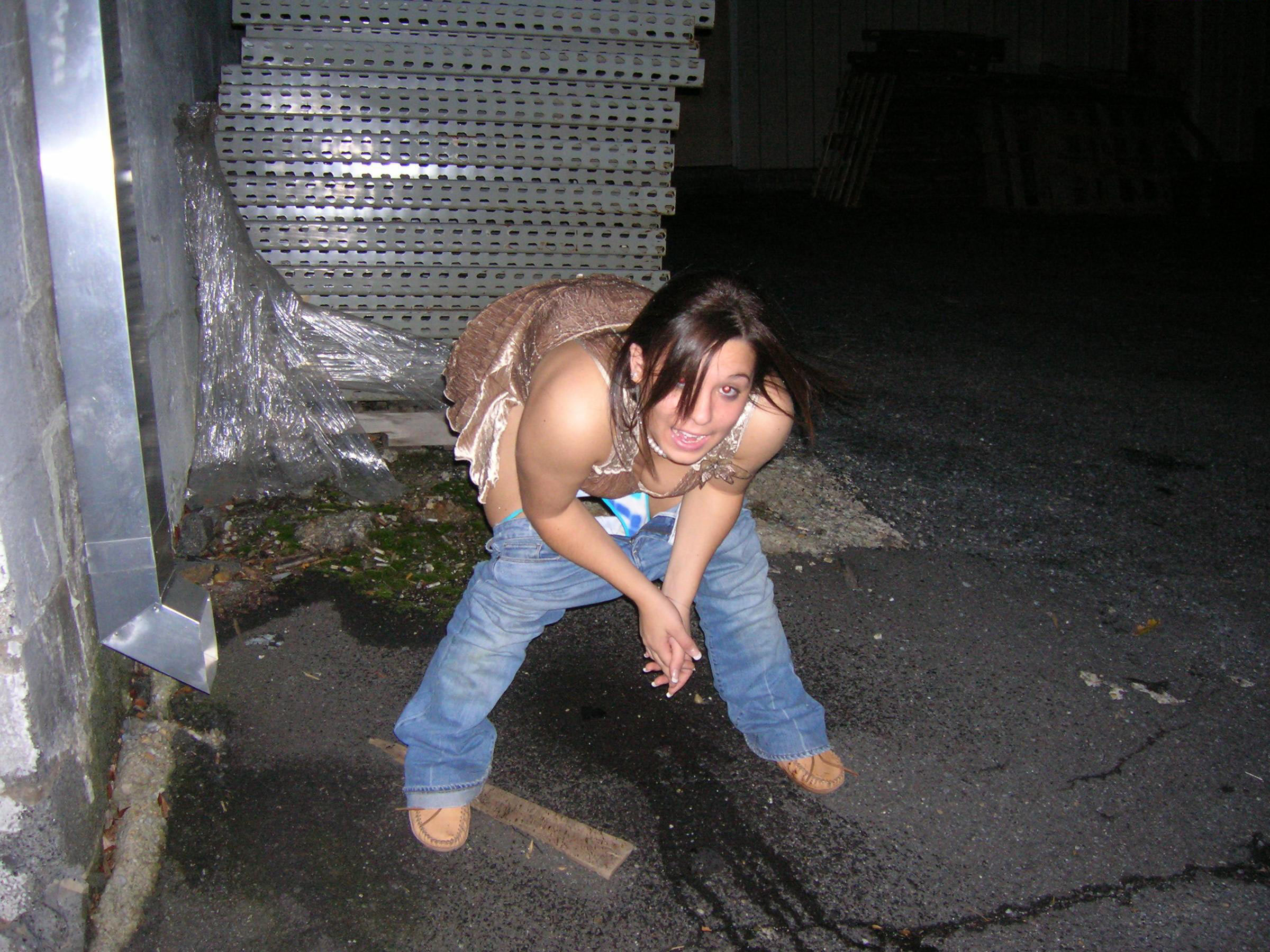 HOT Drunk peeing outside