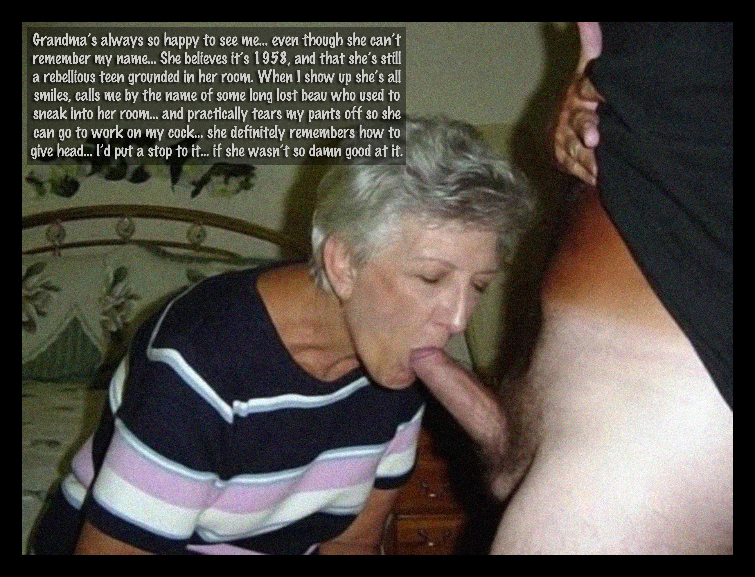 Oma giving blow jobs — pic 6