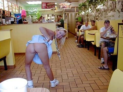 nude girl in mcdonalds
