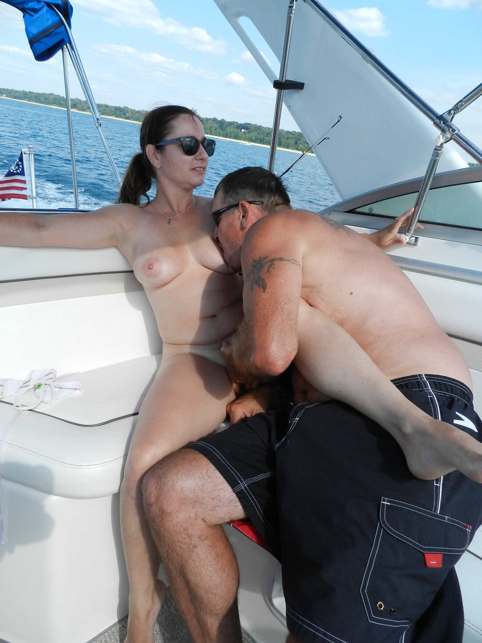 Huge Boobs Bounces On The Boat