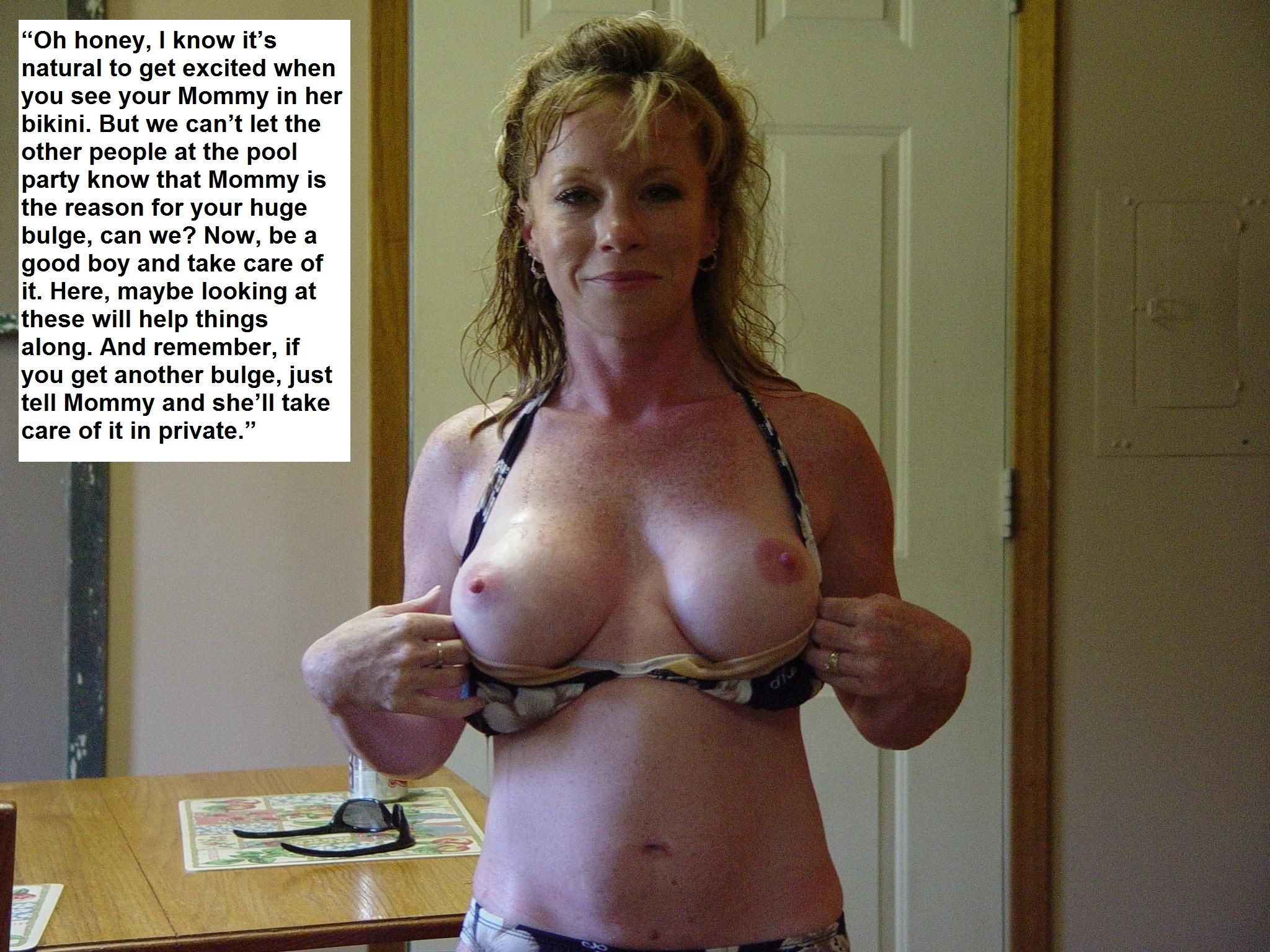 Nude milf with captions