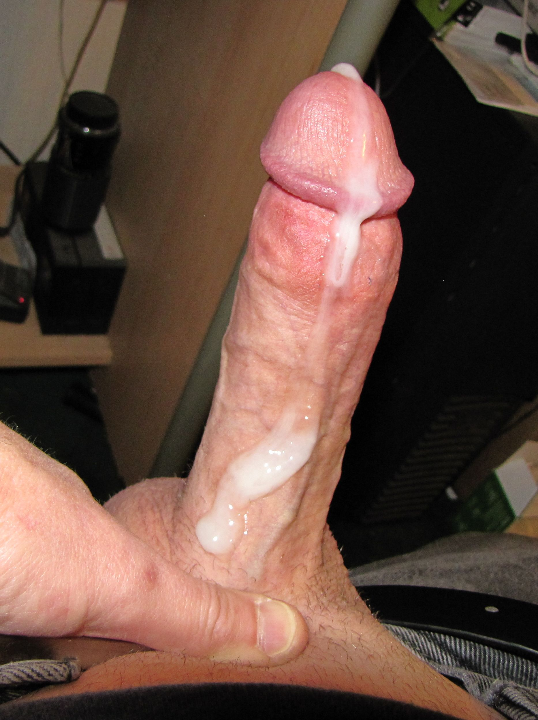 Gay twink hen cum soaked cock