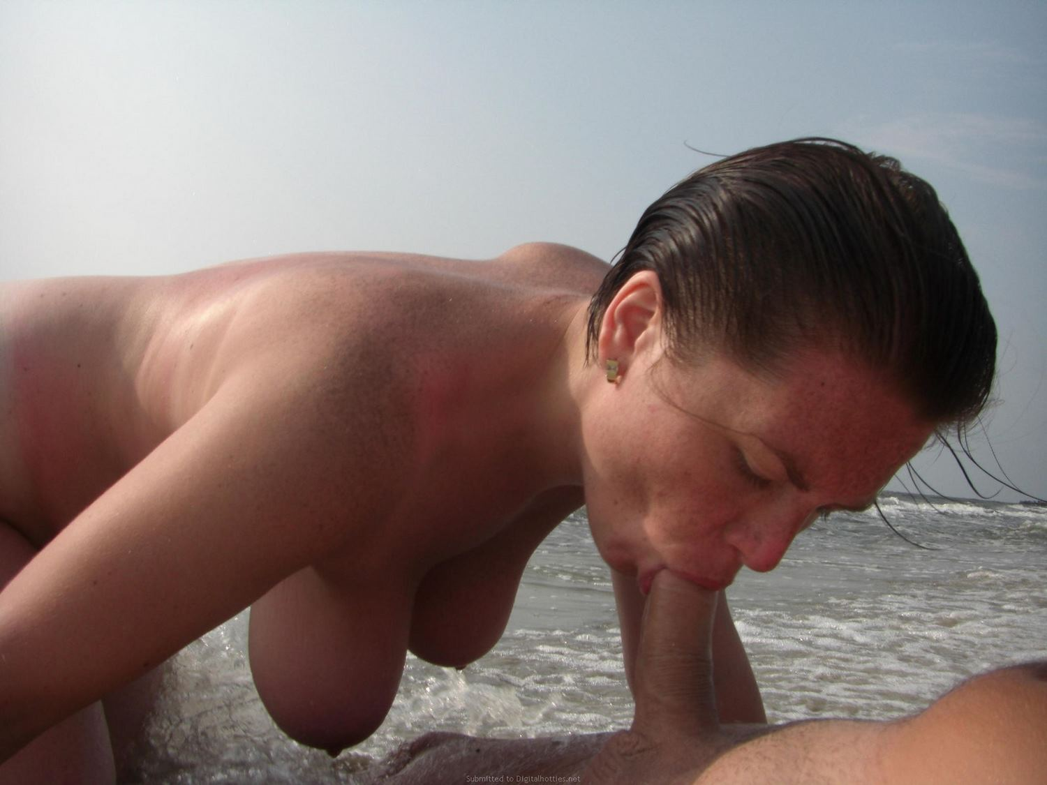 blowjob beach Mature on