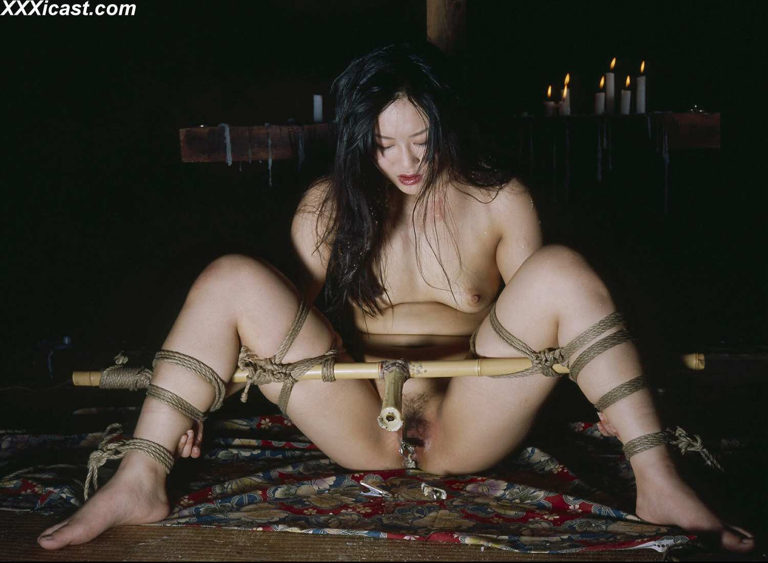 jap bdsm sex Japanese Rope Bondage Waxing And Insertions