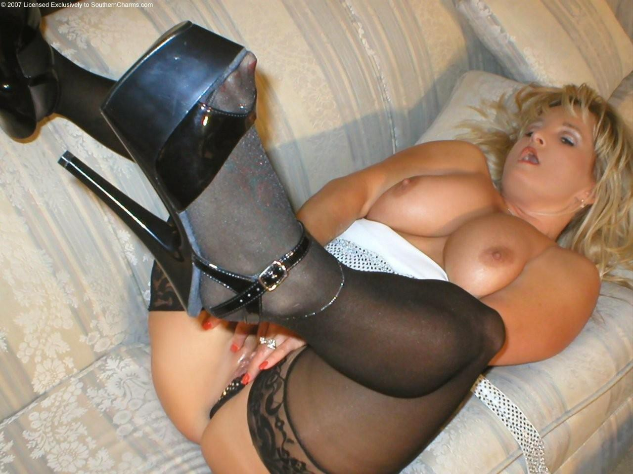 Bbw stockings heels