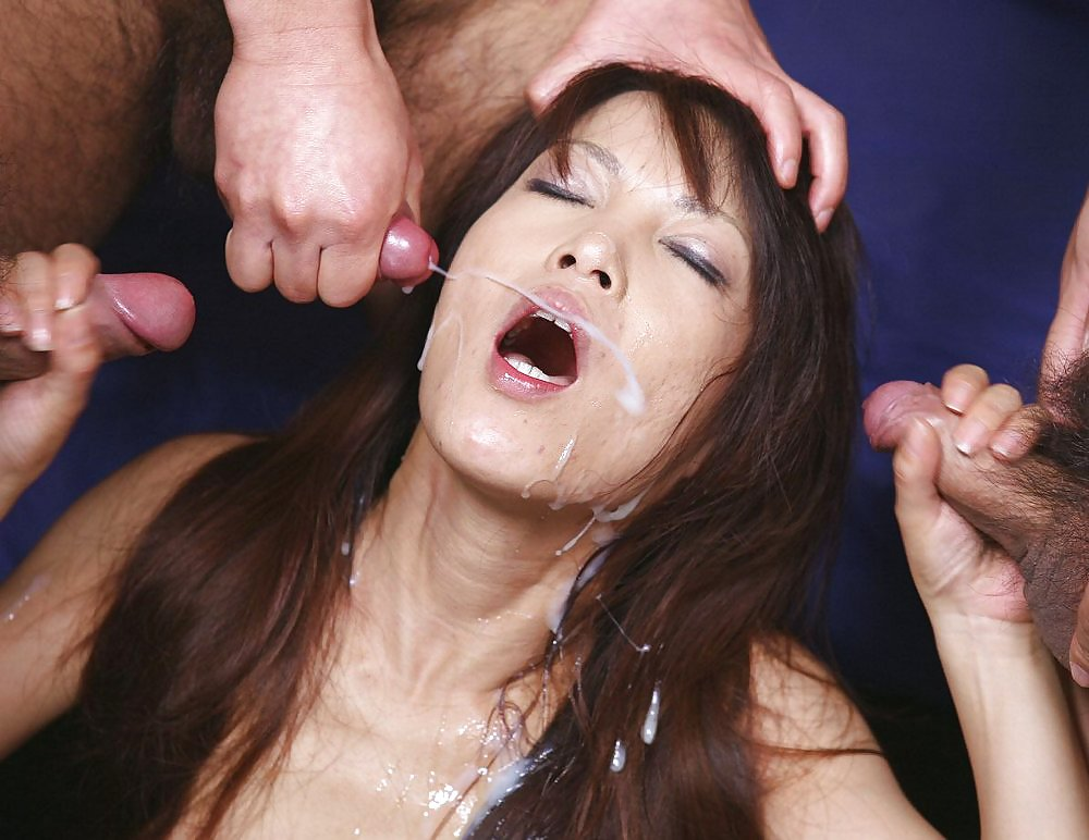 Outdoor japanese facial bukkake sex clip, watch online for free