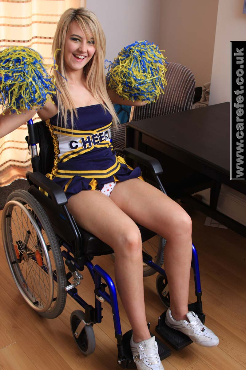Half naked girl in a wheelchair — pic 15
