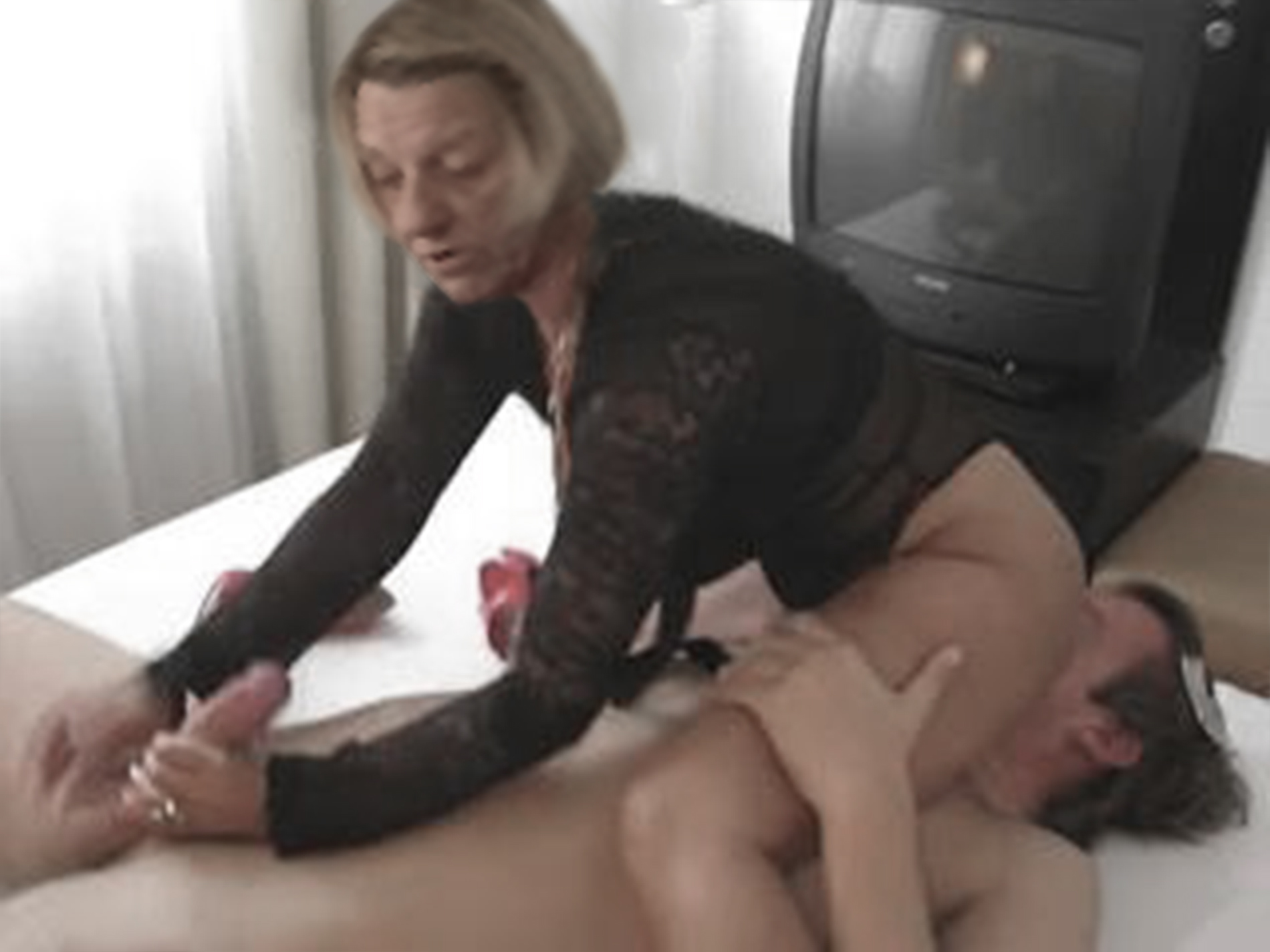 Something is. Mother in law handjob that