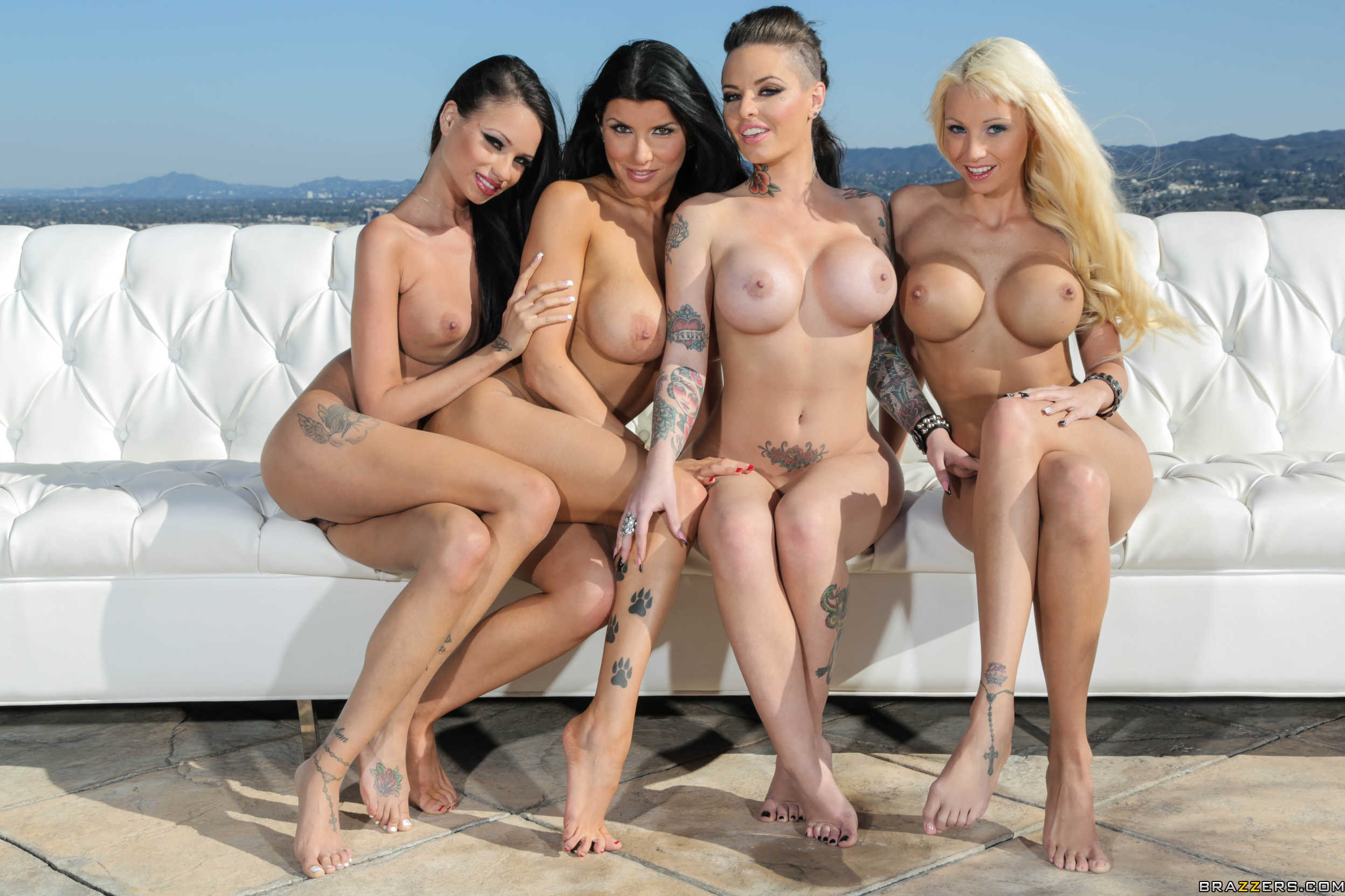 Nude group tits
