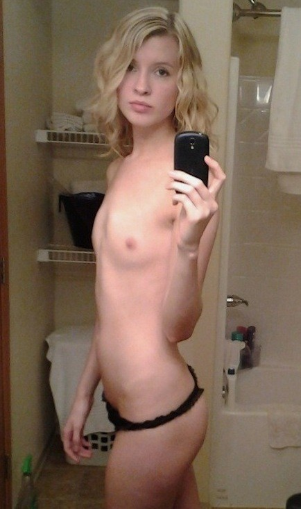 skinny teen Young blonde