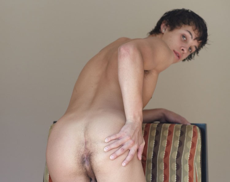 naked twink bent over