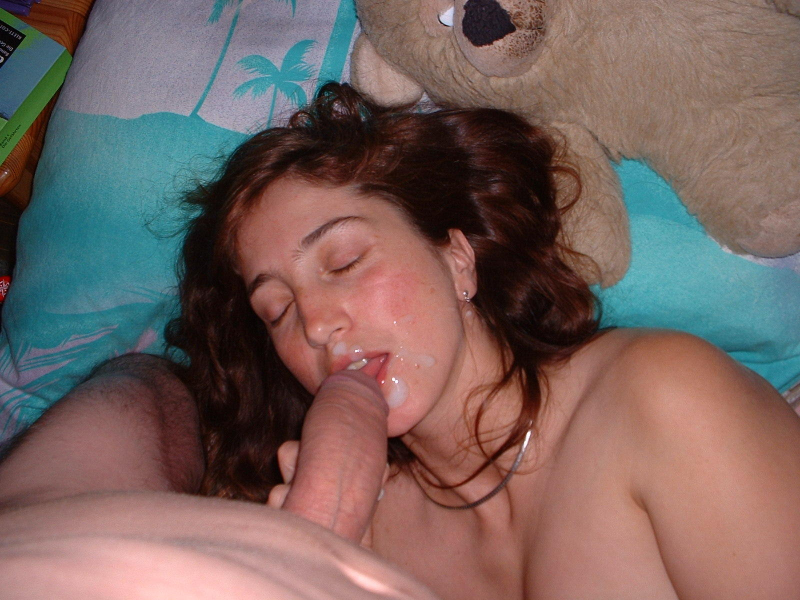 Amateur First Facial Blowjob