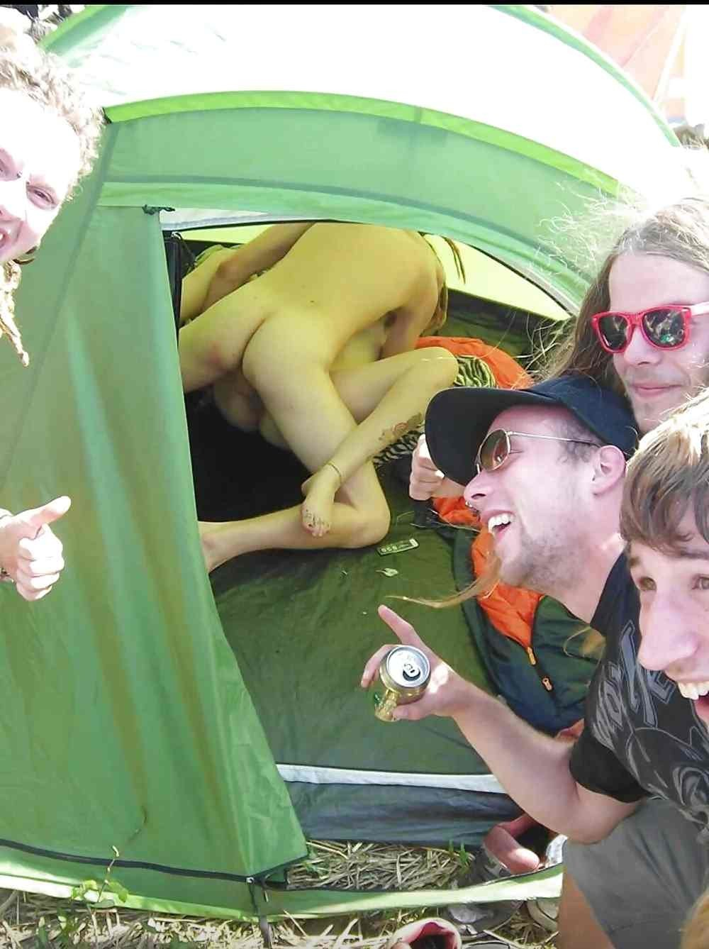 in tents fucking