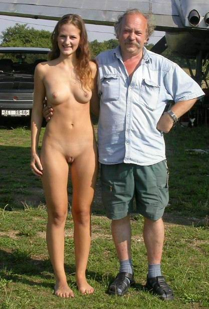 Naked women with clothed men