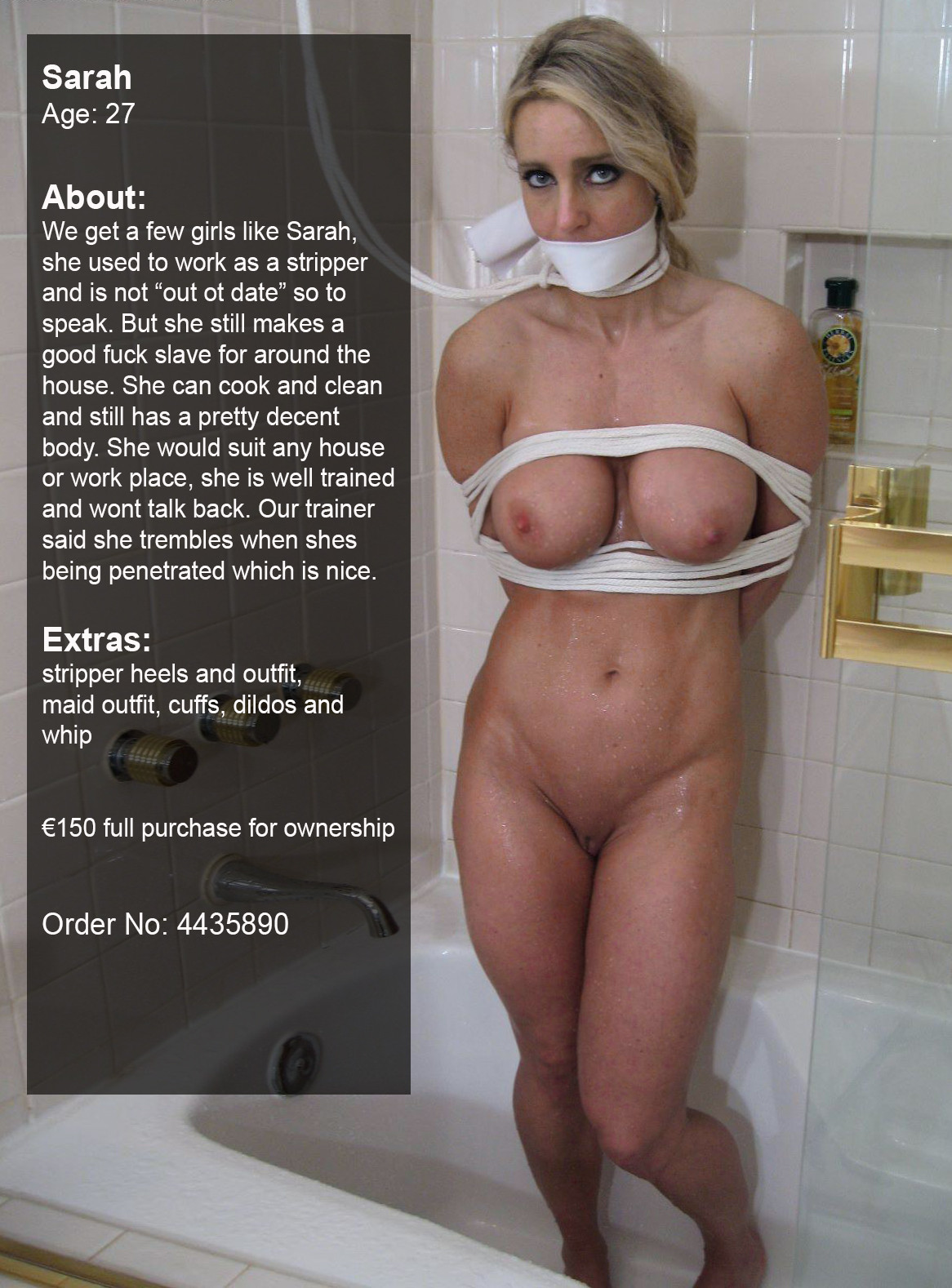 slave pet girl auction