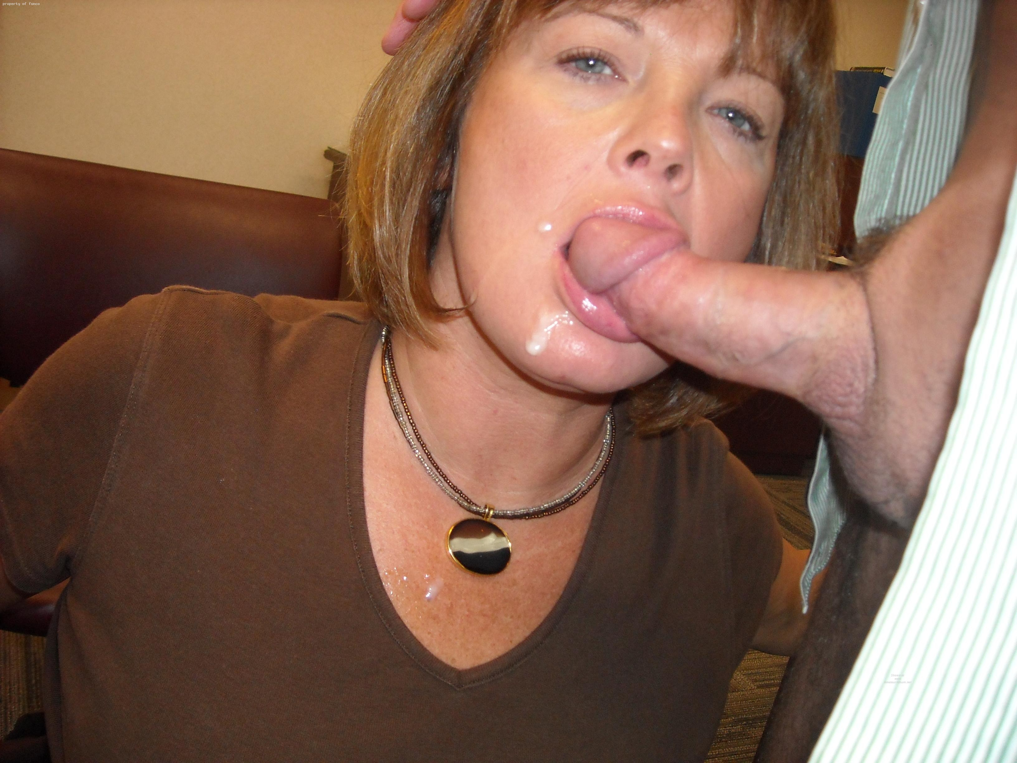 Mature women with cum on their face