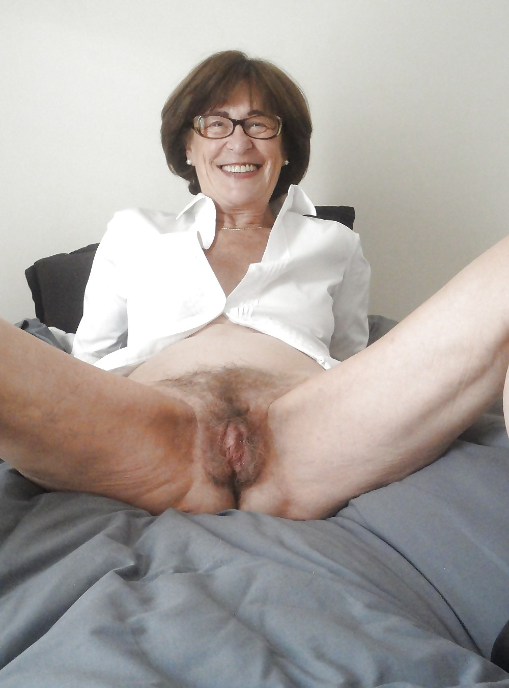 Hairy granny pussy old mature