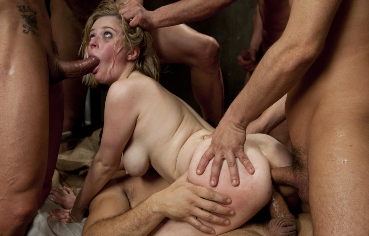 Forced rough gangbang
