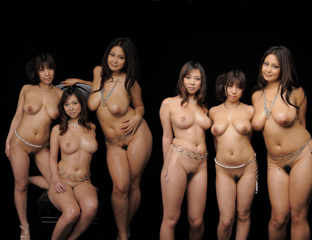 groups of multi ethnic naked models