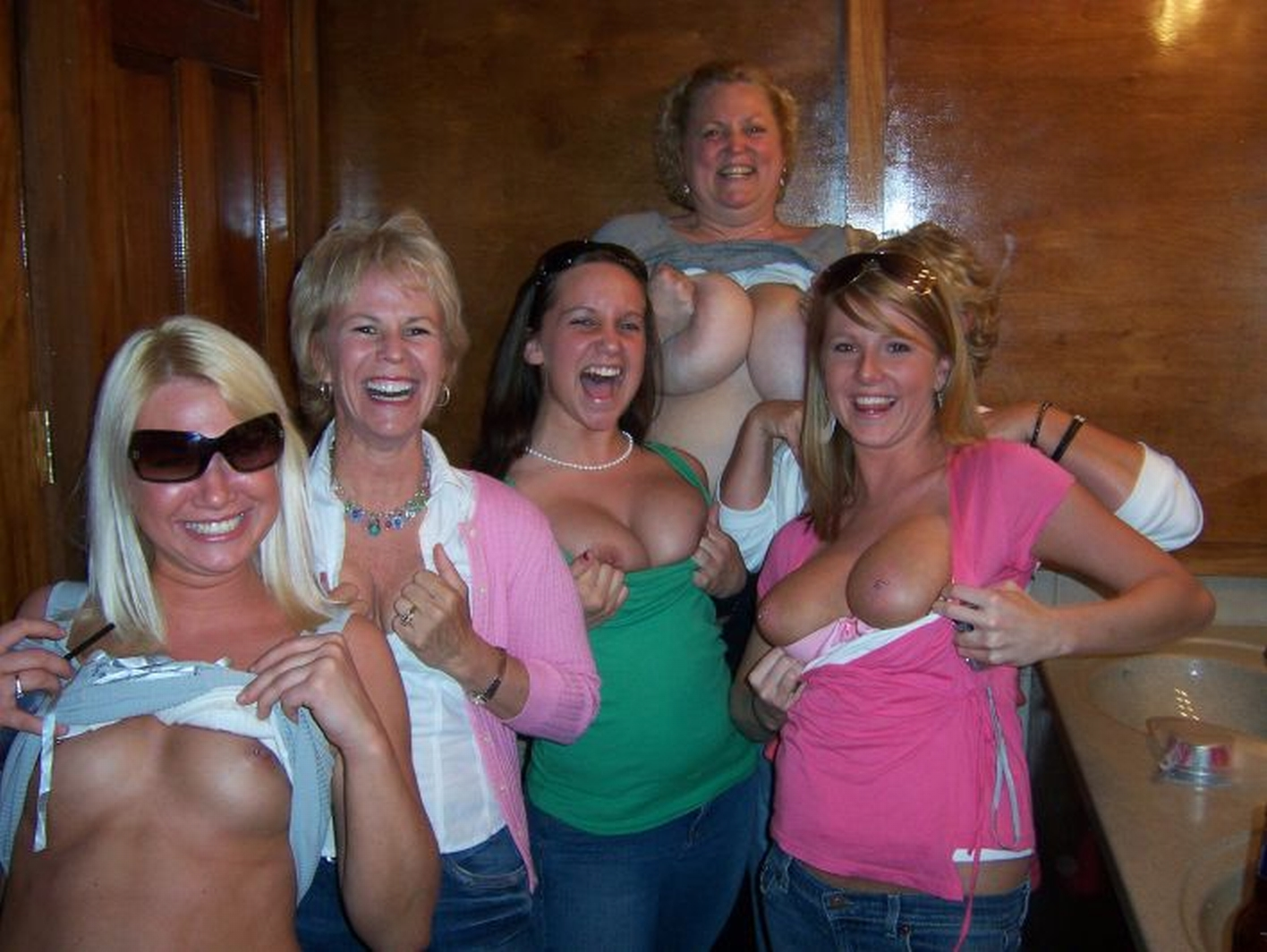 Question You Nude girls group flashing tits something