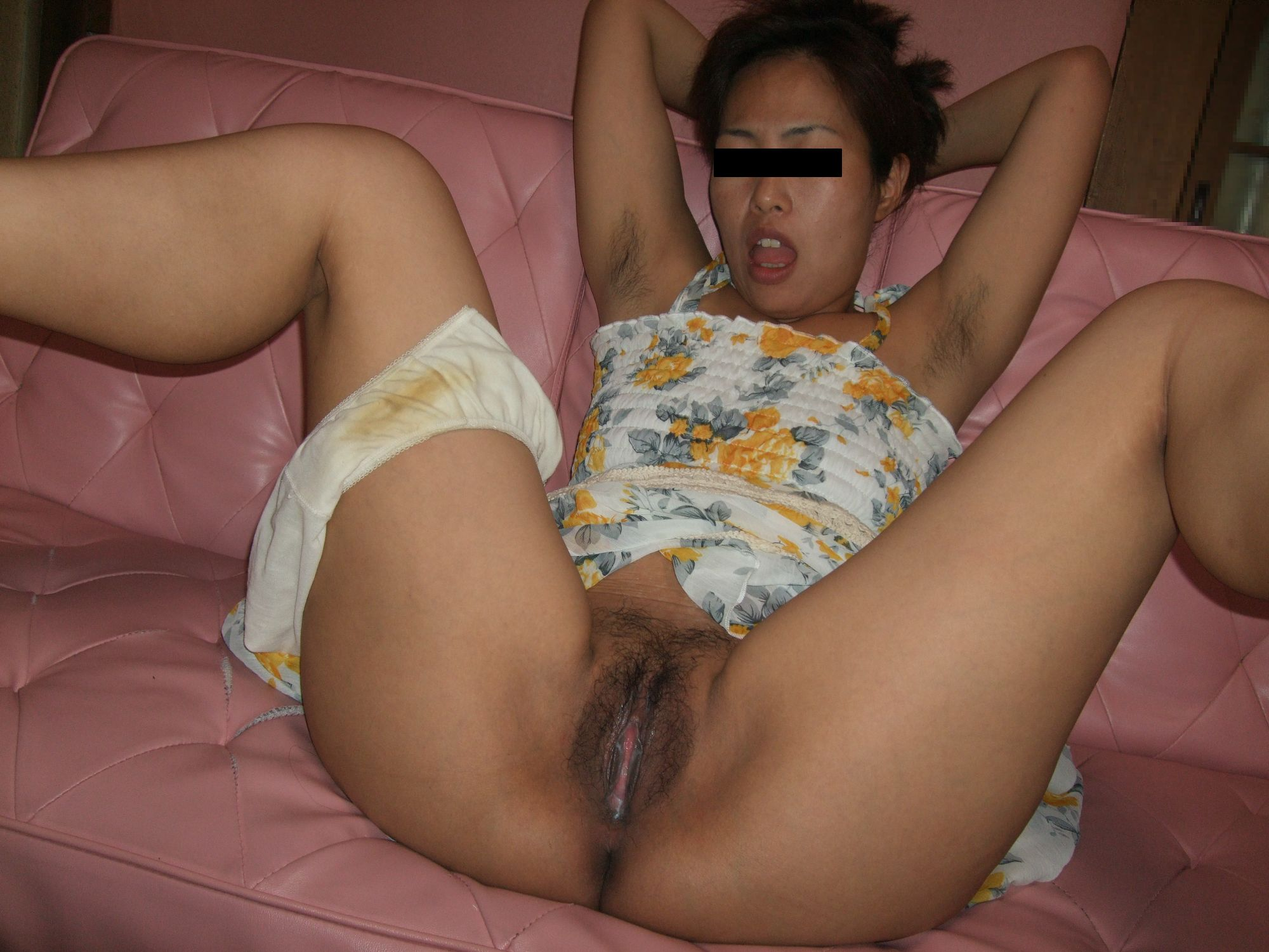 Can asian haity knickers asshole does