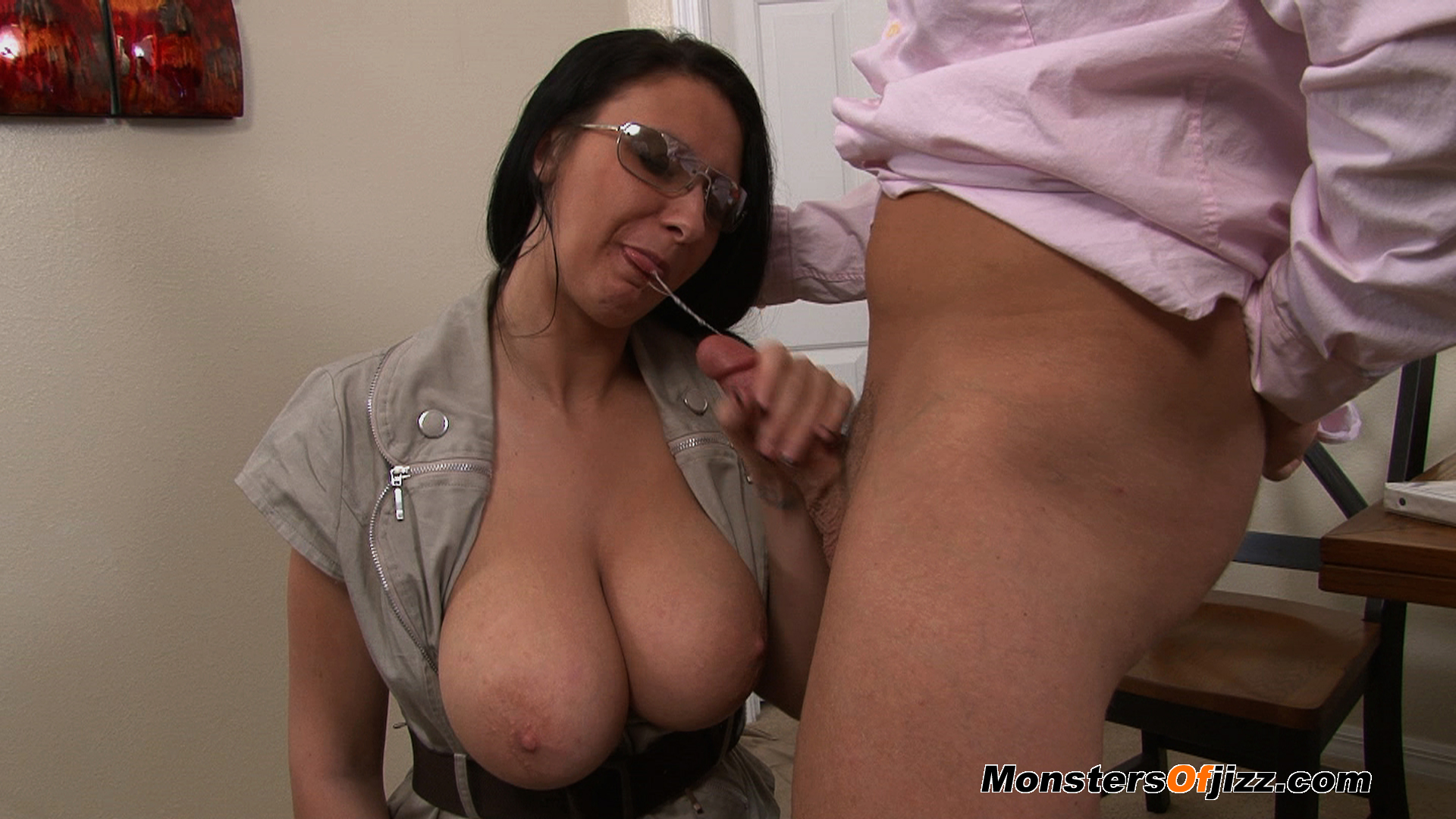 cum tits Mature amateur wife on