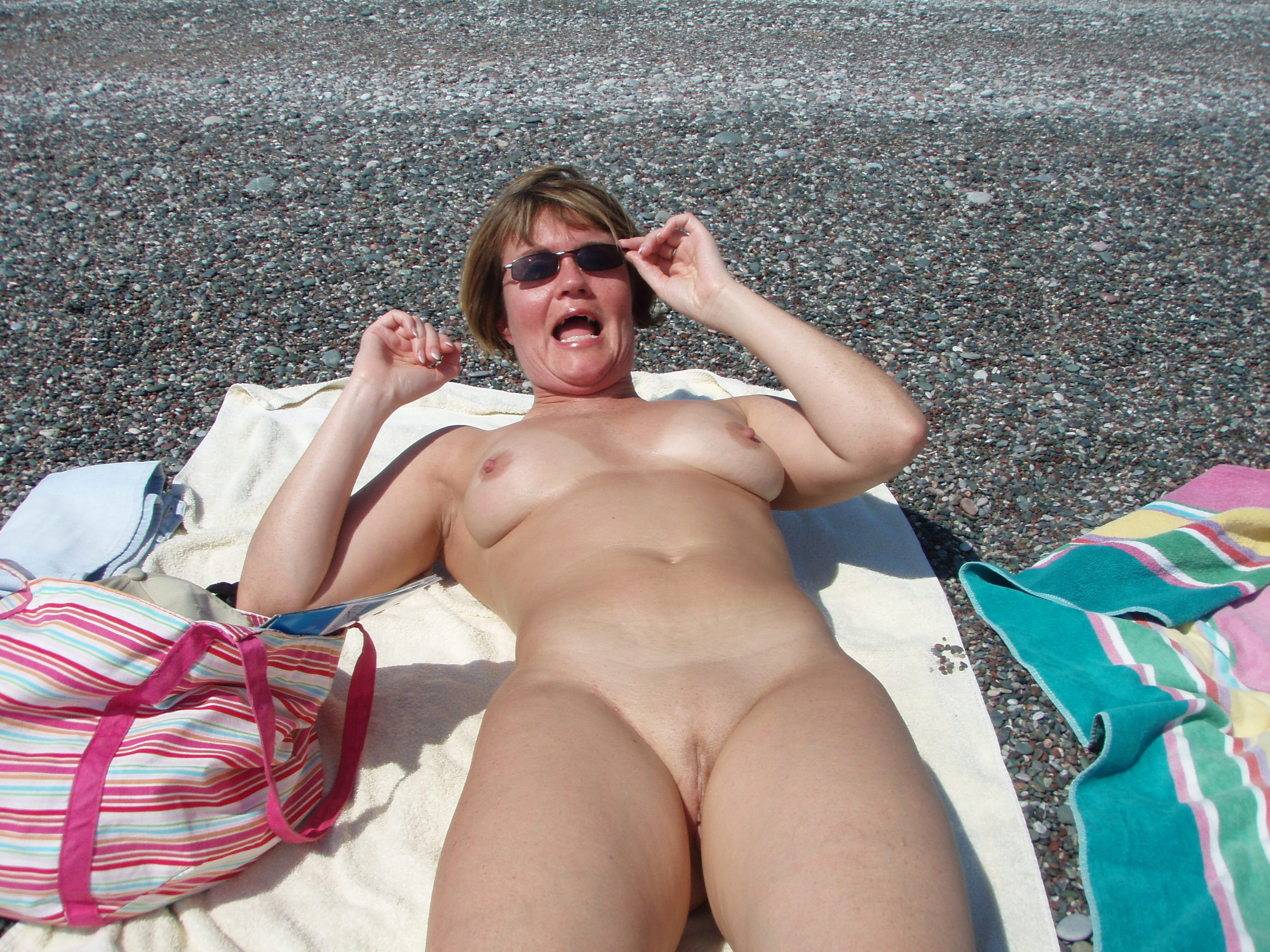 This Mature mom voyeur beach