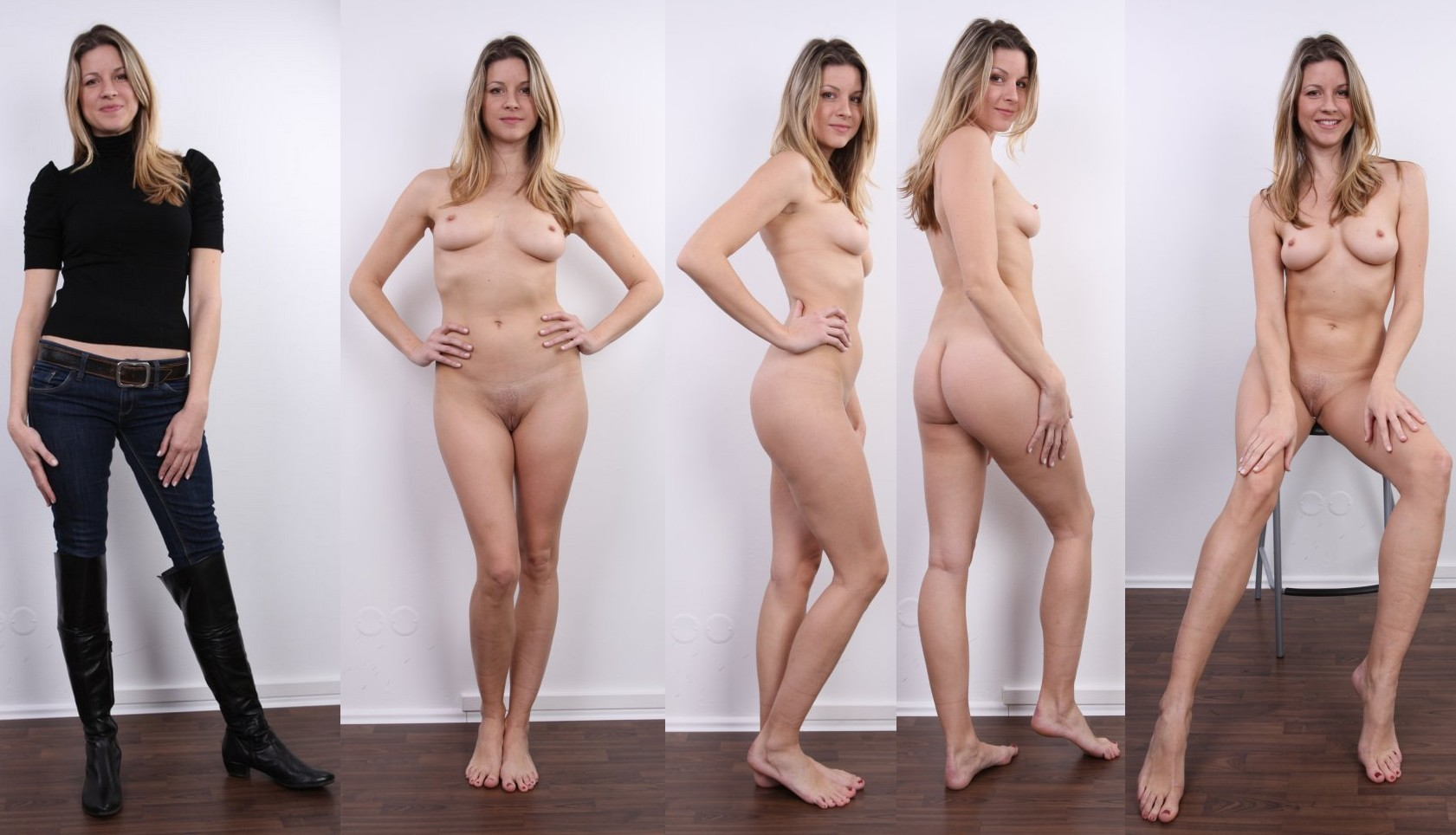 Amature clothed and nude