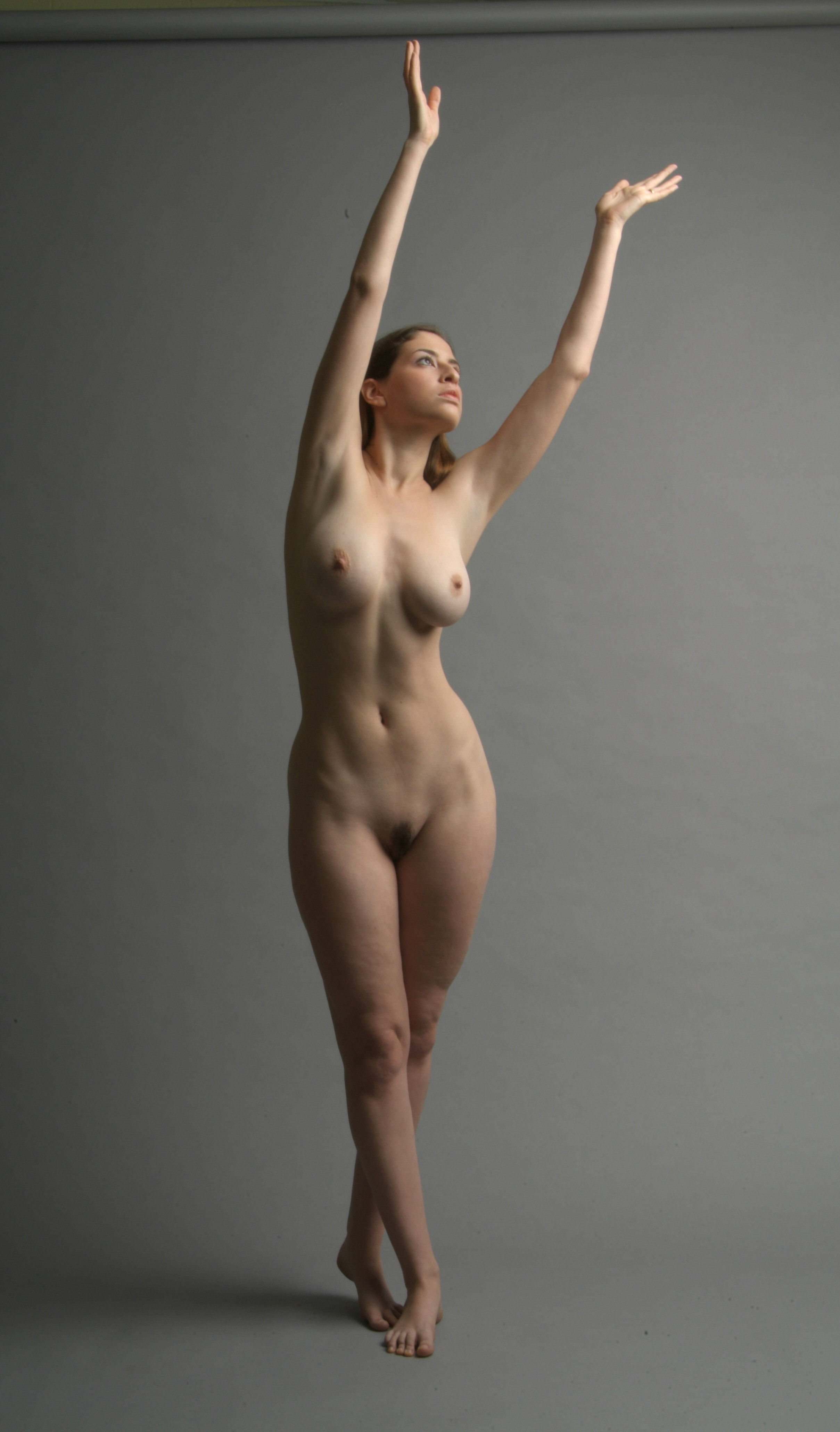 Nude figure arms up upside up — pic 10