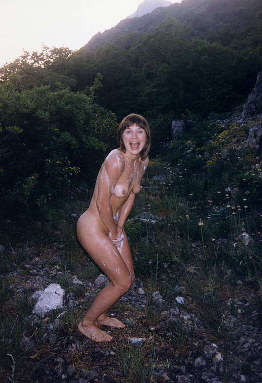 amateur caught naked outdoors