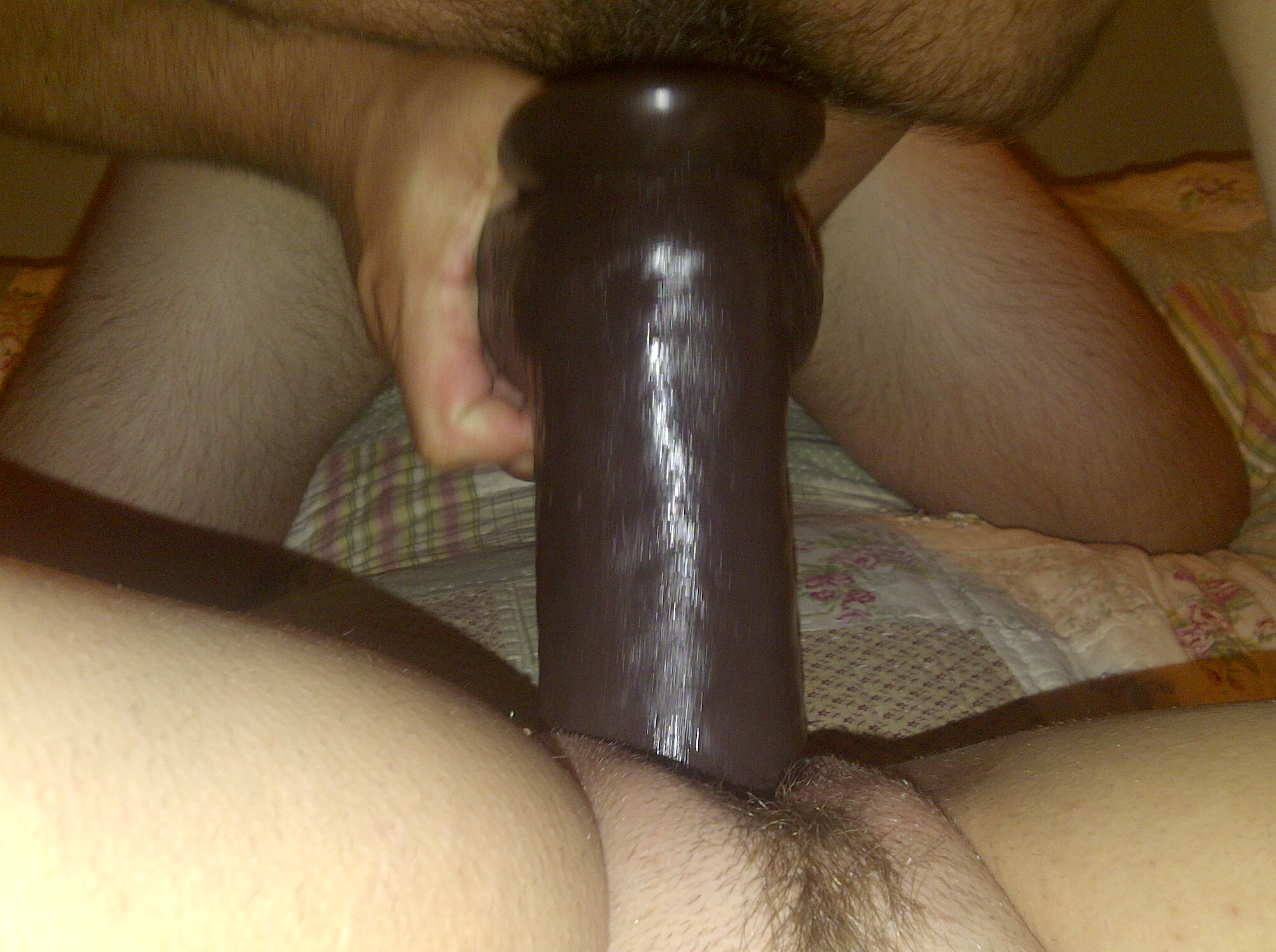 Bbw with black dildo