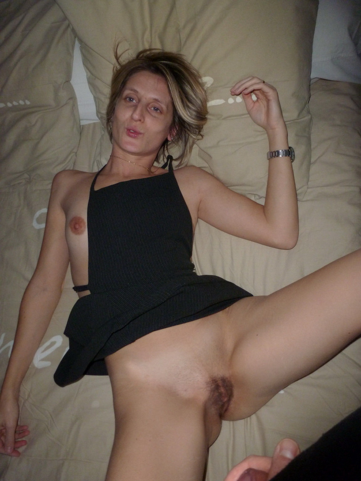 Nude ugly wife