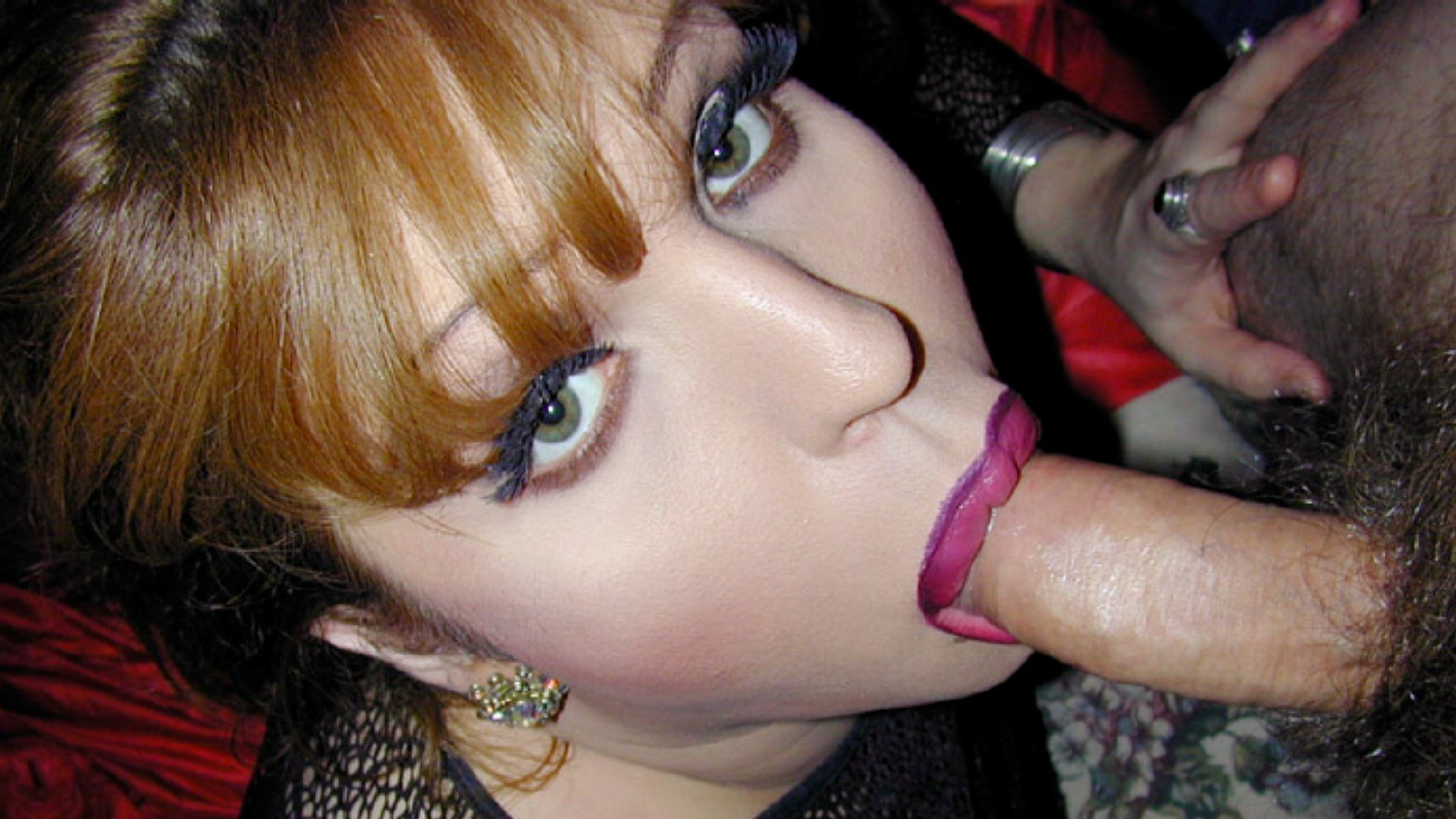 Girls makes sissy suck cock