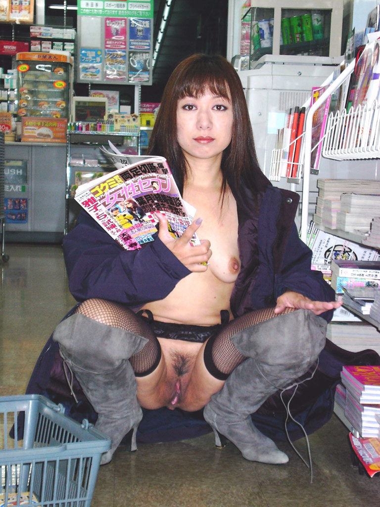 Pussy flashing in shopping mall right! like