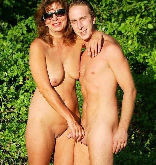 Son and friends swim naked with mom free pics