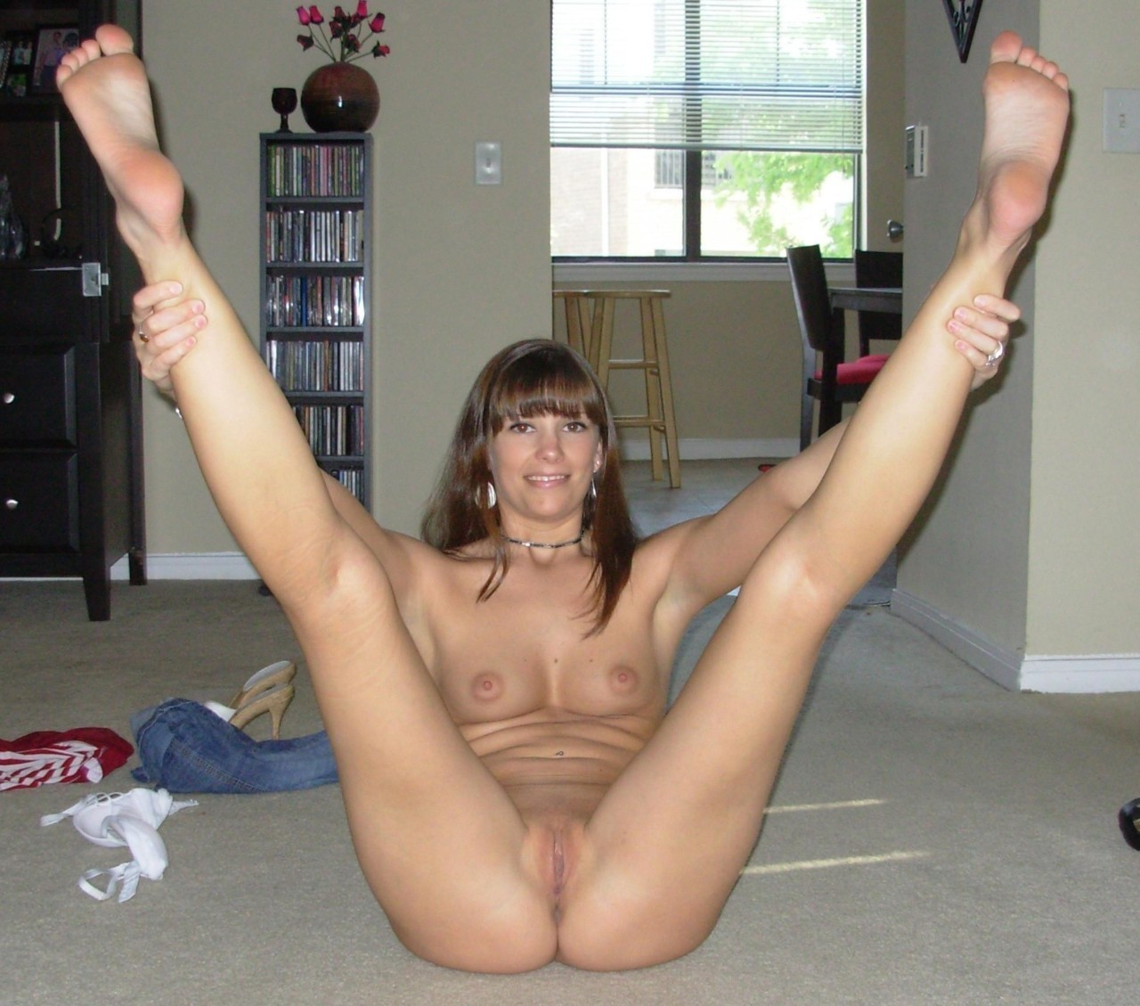 My mature wife nude and legs spread