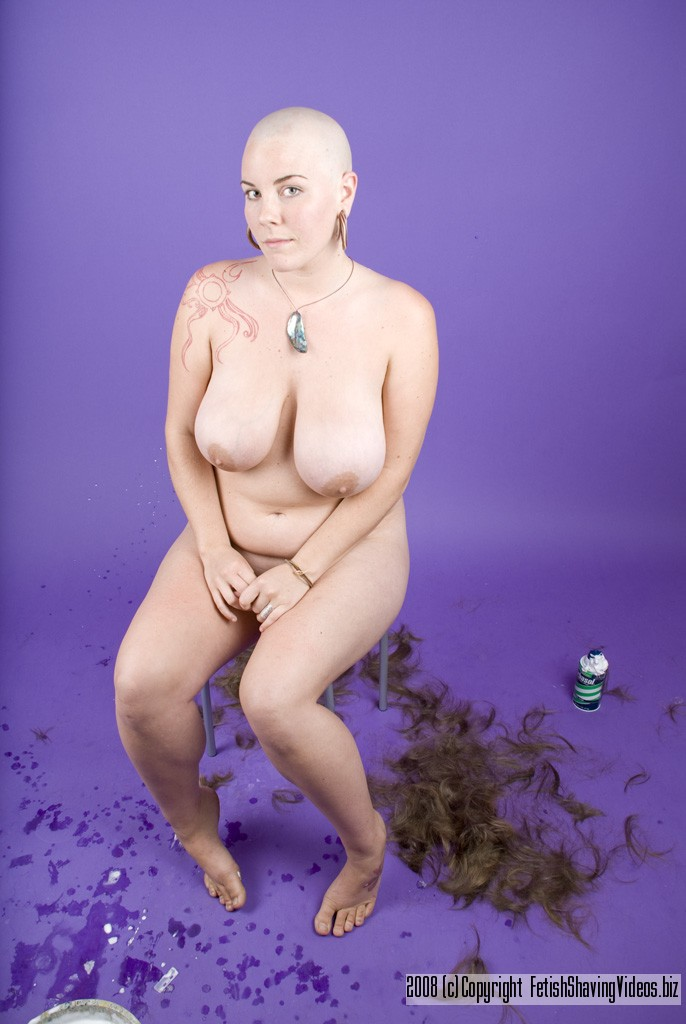 naked Bald girl