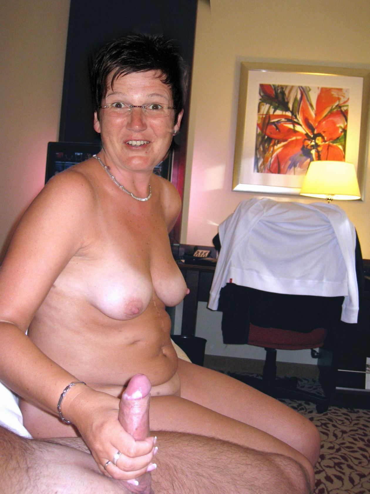 Real naked housewife jerks men off