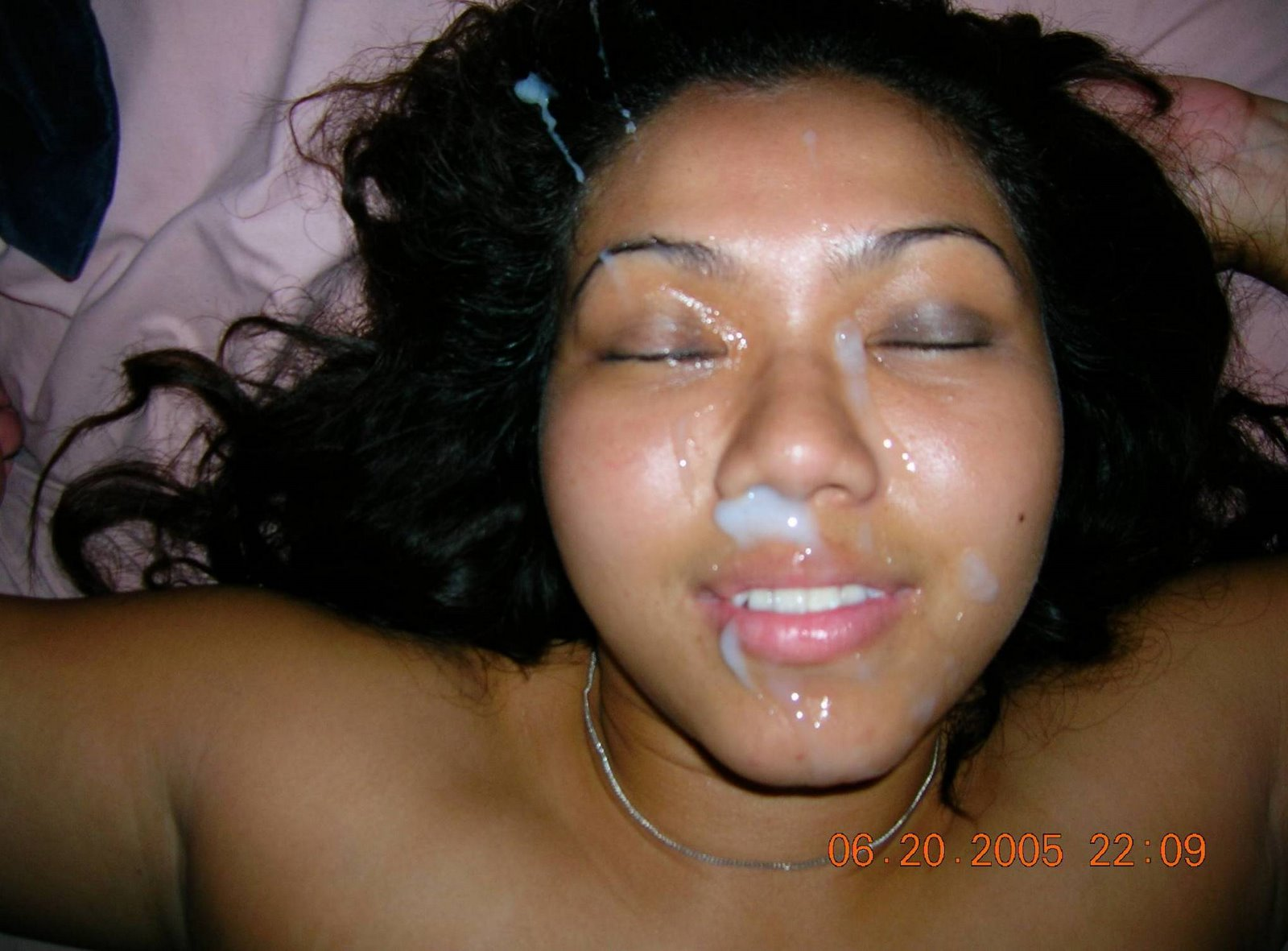 Malay facial cumshot