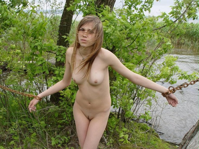 Naked girls in the forest
