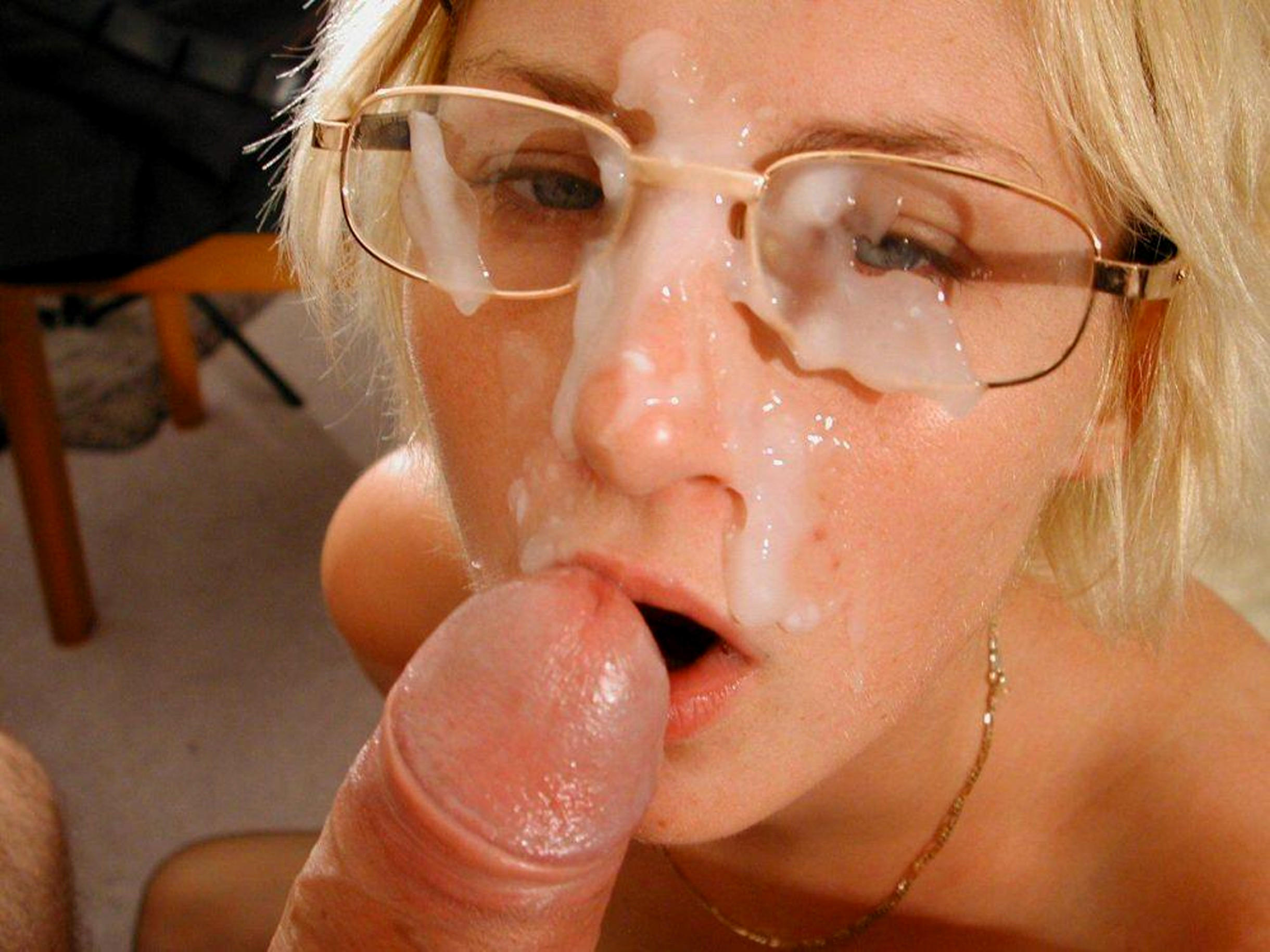 porno glasses Cum on